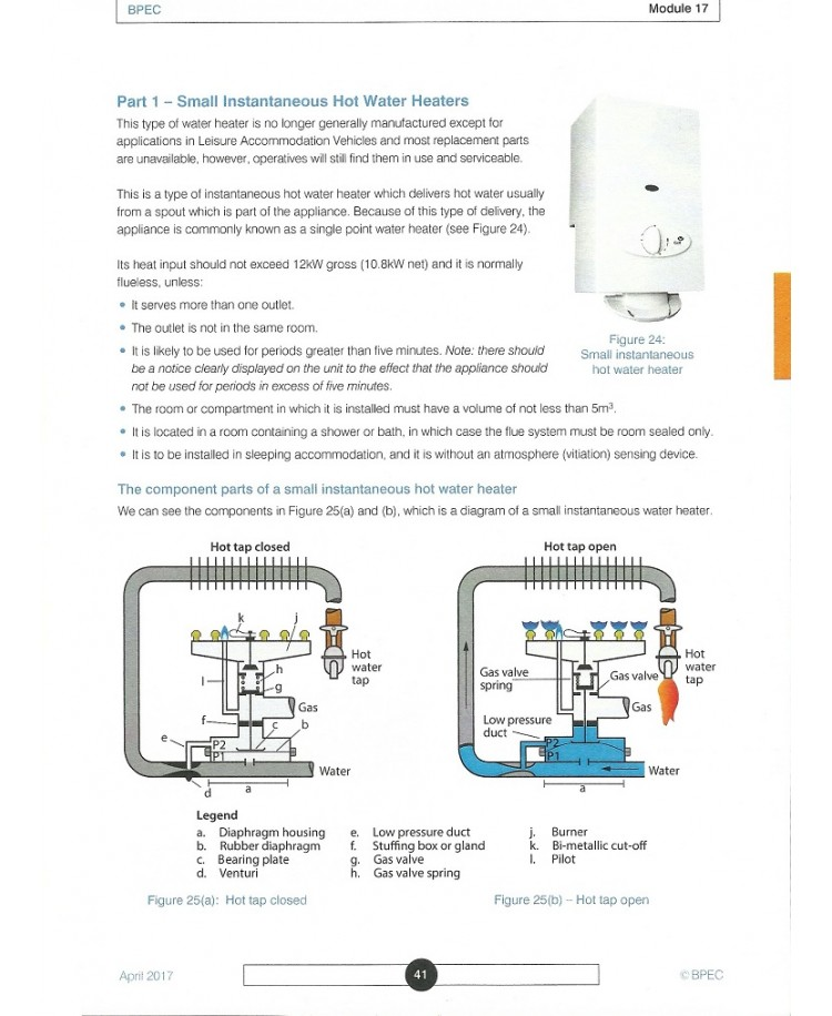 BPEC Appliance Specific Gas Safety Learning Manual (PDF)